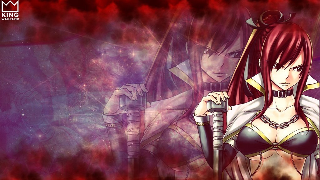 Erza Wallpaper   Fairy Tail by Kingwallpaper 1024x576
