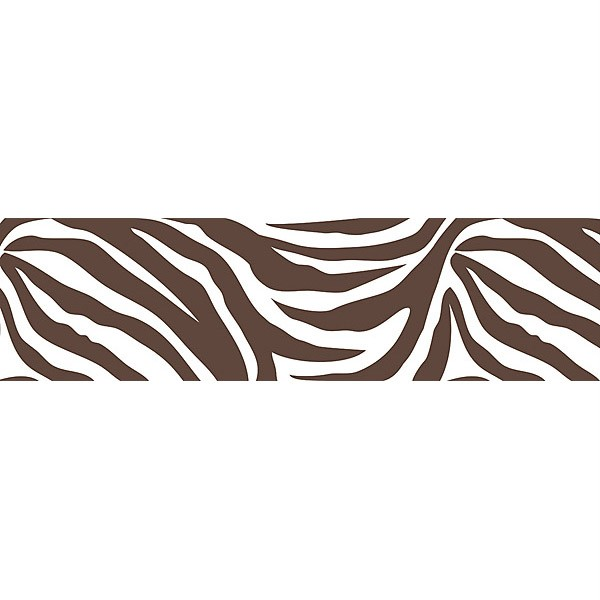 BROWN ZEBRA PRINT 16 Removable Sticker Wall Border Animals Wallpaper 600x600