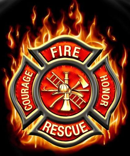 Fire Rescue Classic Maltese Cross T Shirt 419x501