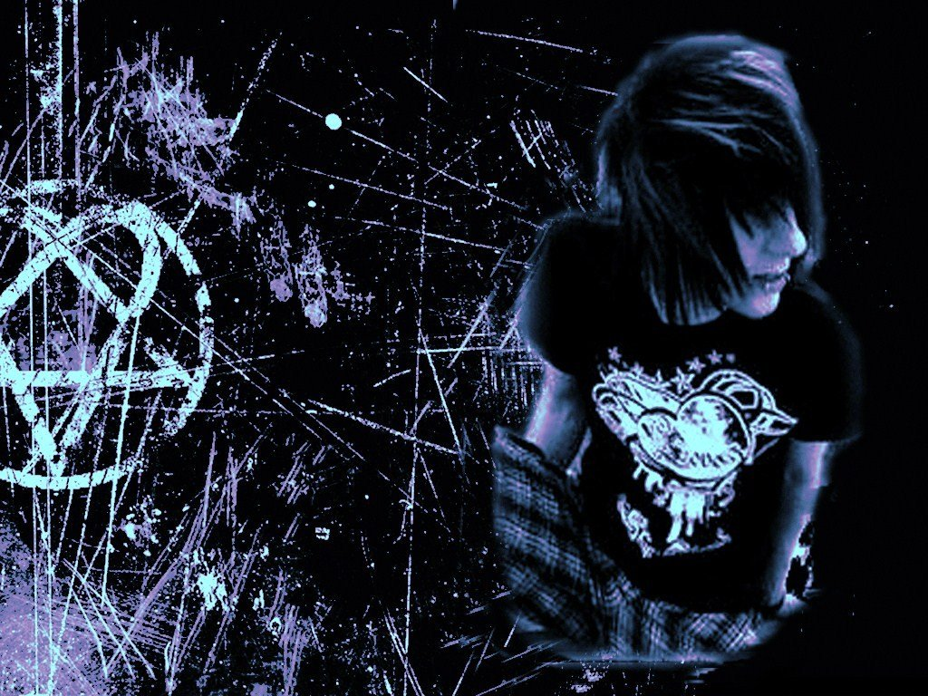 Emo Layouts Emo Backgrounds Emo Girls Wallpaper Templates Emo Graphics 1024x768