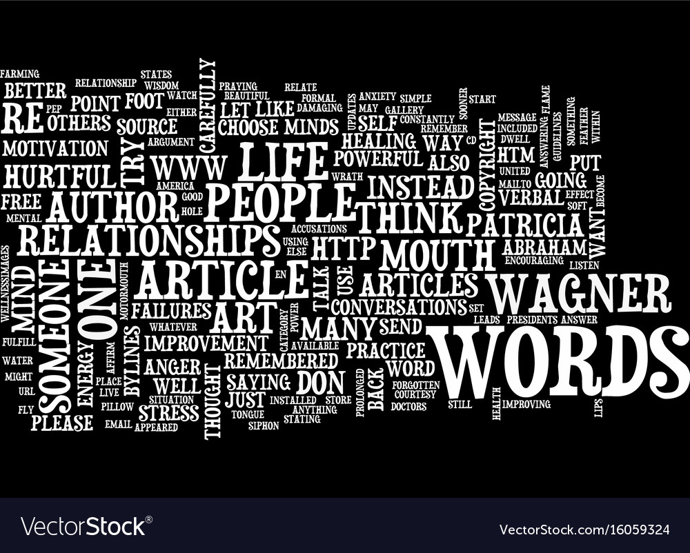The power of healthy words text background word Vector Image 1000x802