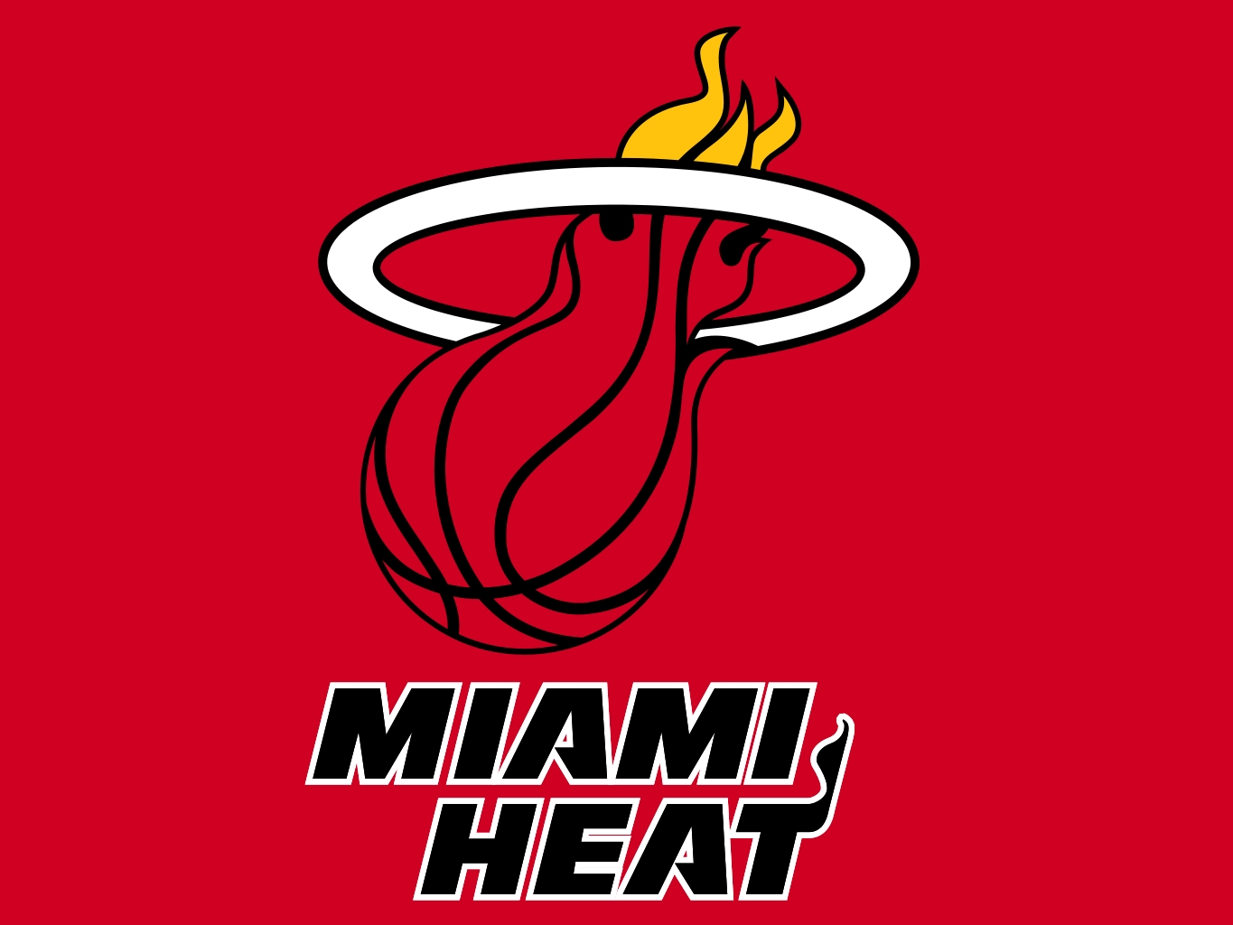 miami heat logo wallpapers red Desktop Backgrounds for HD 1365x1024