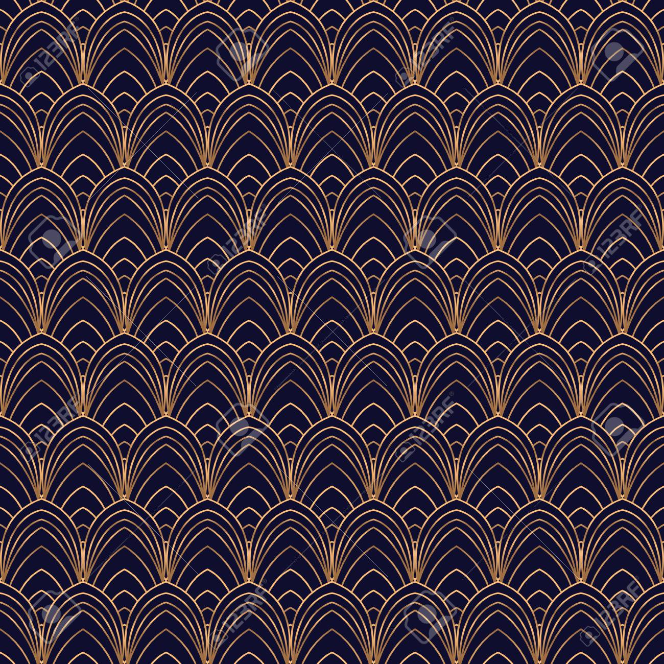 Luxury Background Vector Scale Art Deco Pattern Seamless Feather 1300x1300