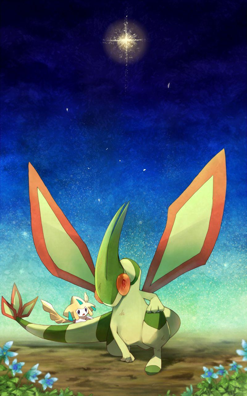 Flygon and Jirachi Teh Pokemanz Pokmon Gold pokemon Pokemon 800x1280