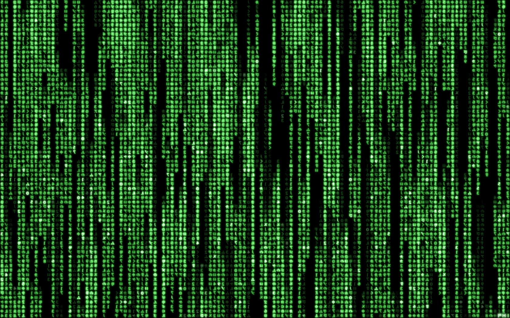Matrix code by phi AU 1680x1050