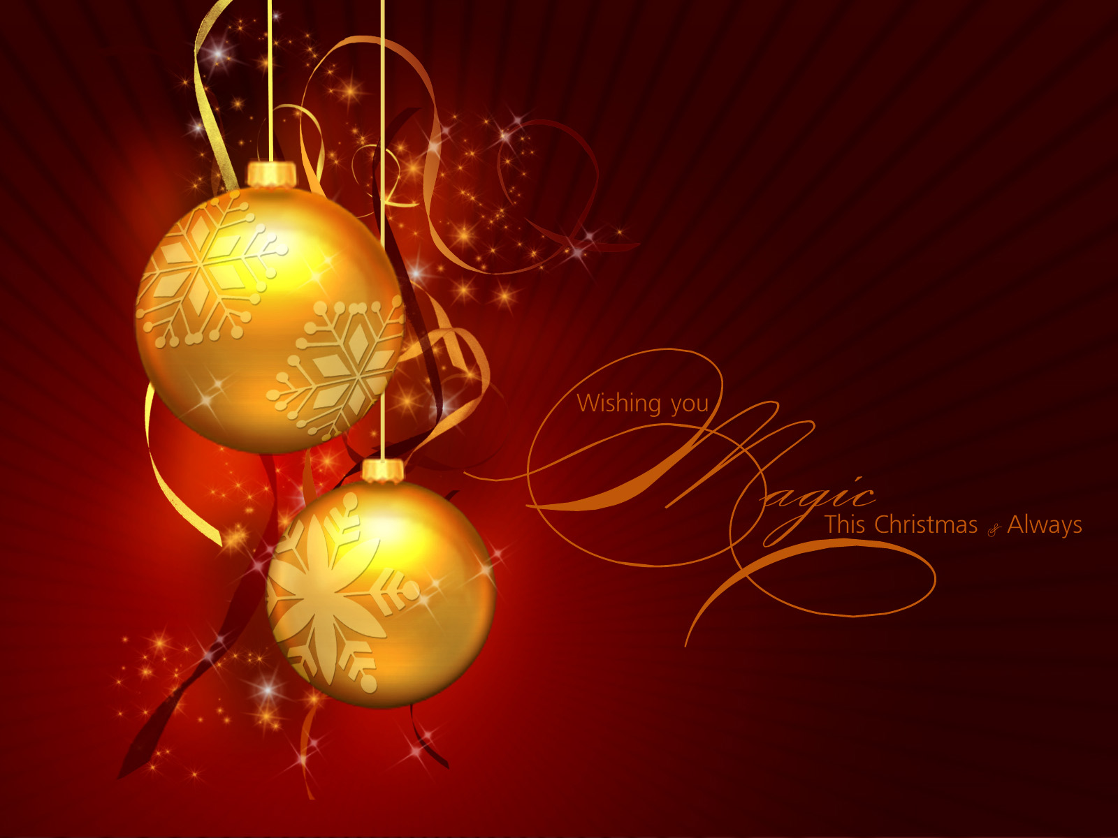 Christmas Backgrounds Christmas Bulbs Wallpaper Christmas 1600x1200