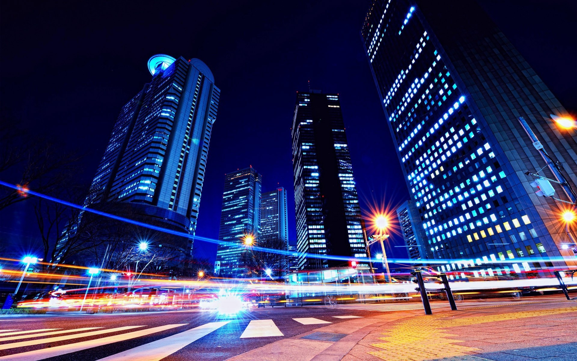 Japan tokyo cityscapes city night wallpaper 10299 1920x1200