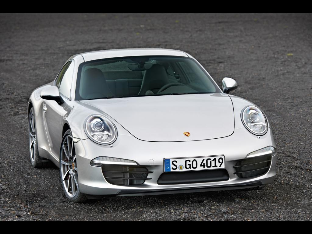 Porsche 911 Carrera 2012 Tuning Wallpaper Silber 1024x768