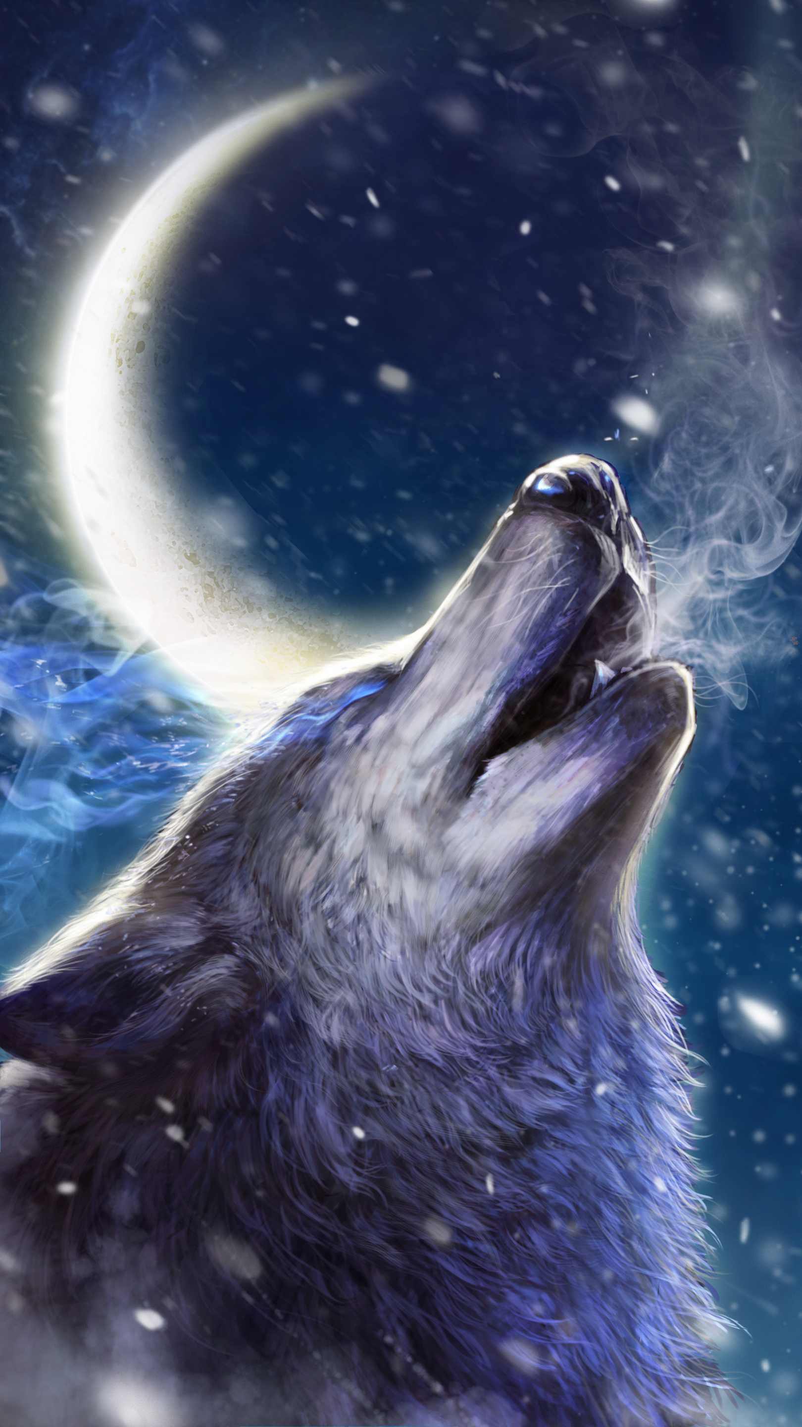 Howling wolf live wallpaper Android live wallpapers from 1620x2880