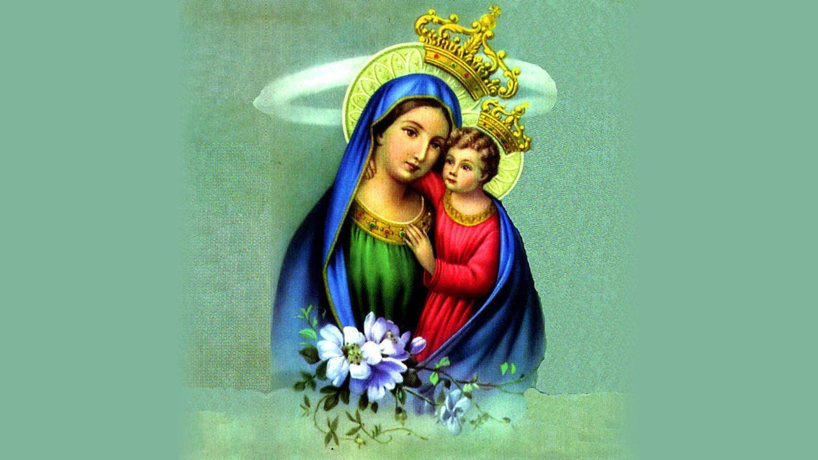 Mother Mary With Baby Jesus Wallpapers