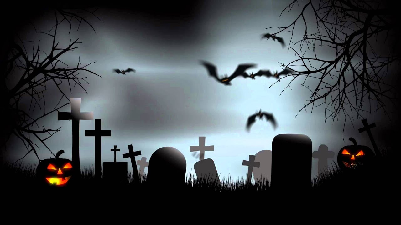 Halloween Graveyard Background After Effects Template 1280x720