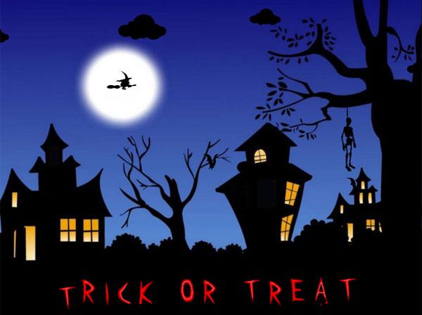 free halloween animated desktop wallpaper