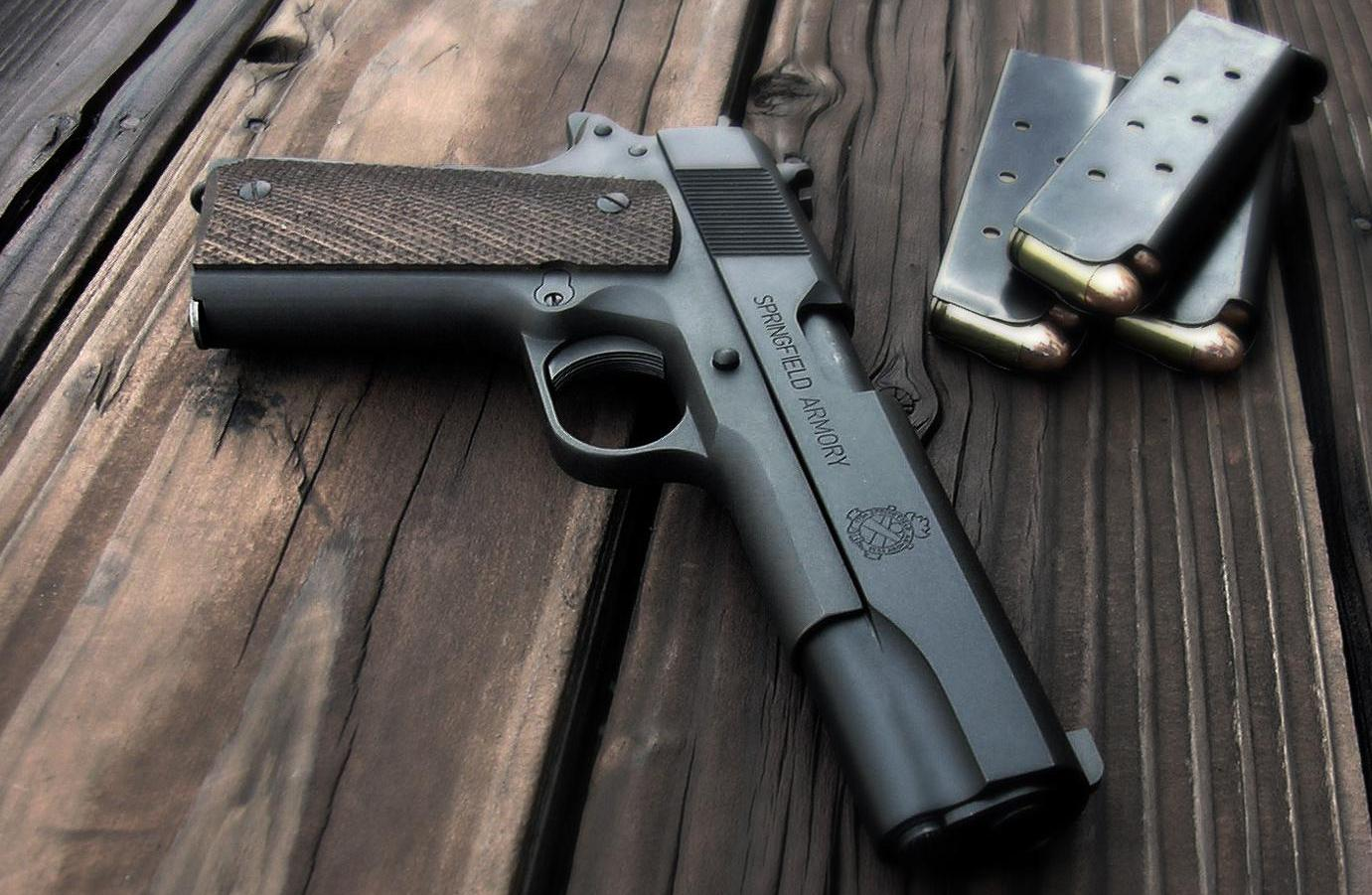 Weapons   Springfield Armory 1911 Pistol Wallpaper 1381x901