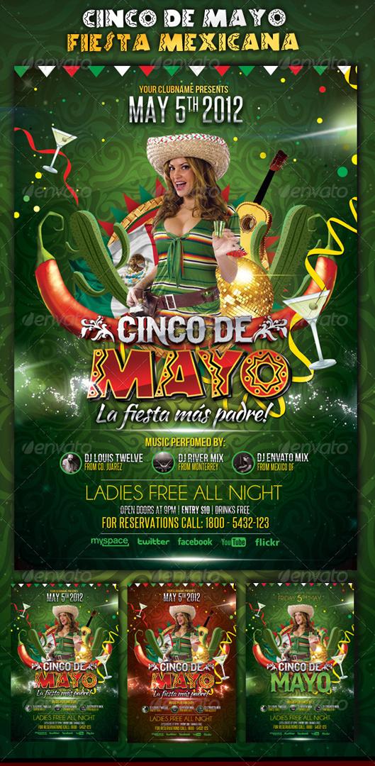 Download Cinco de Mayo Party Flyer Template by LouisTwelve Design