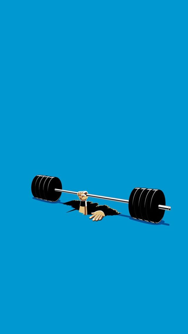 TAP AND GET THE FREE APP Art Creative Funny Gym Hand Blue HD 640x1136