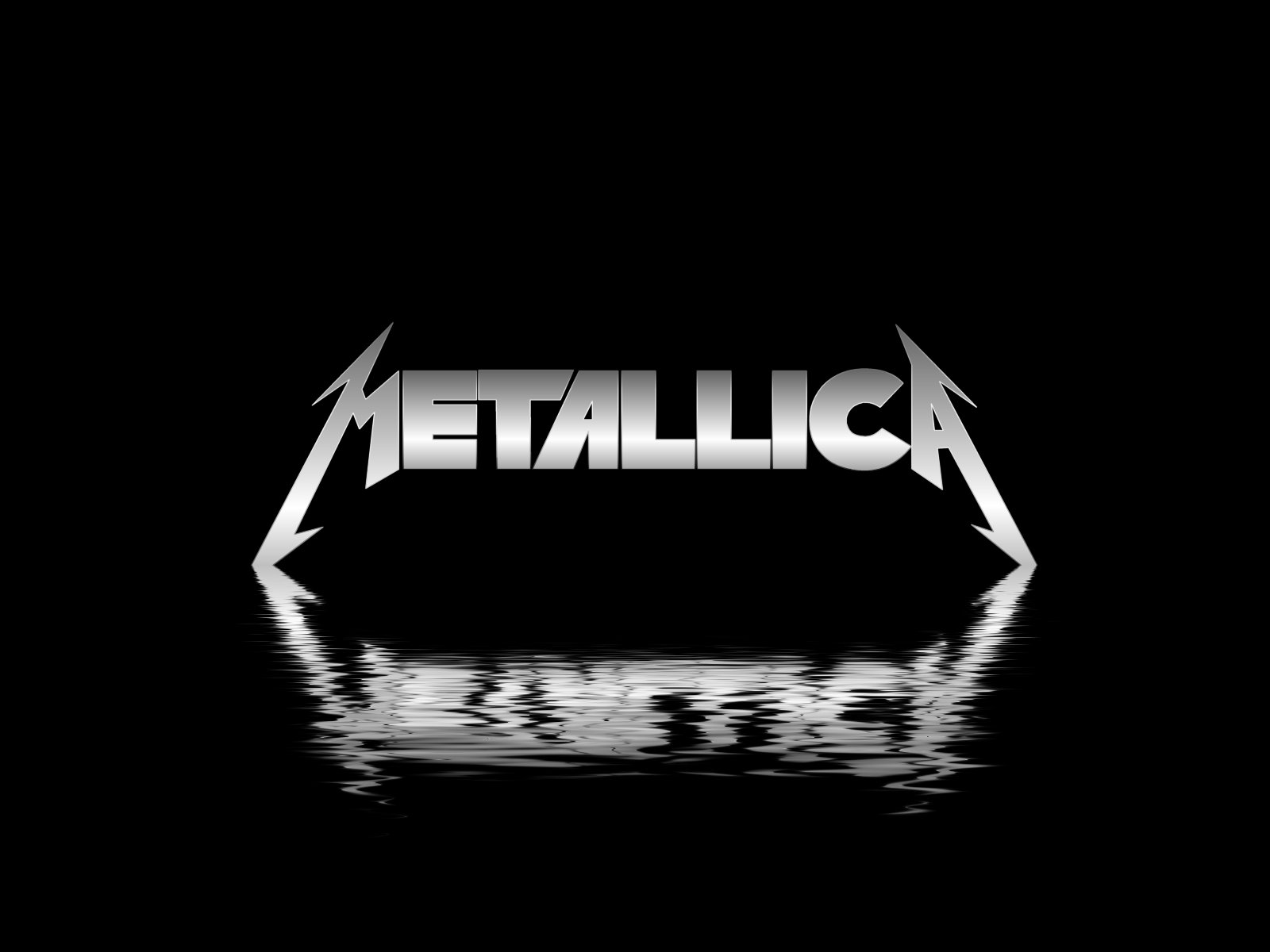 metallica water logo wallpaper 1600x1200