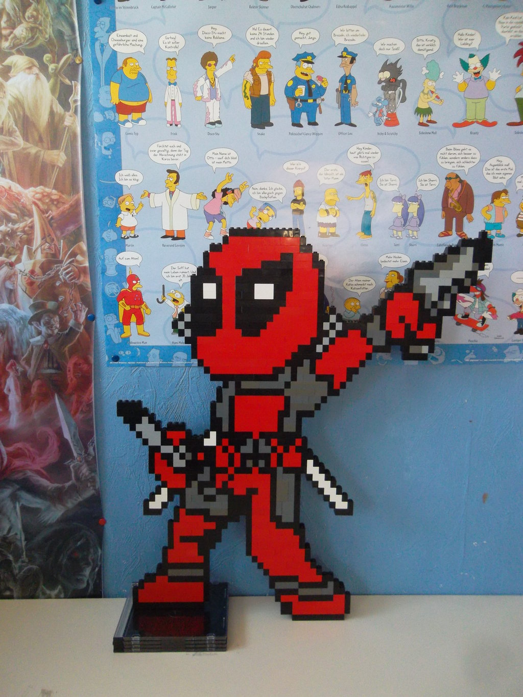lego deadpool by profmadness watch traditional art sculpture lego 2015 1024x1365