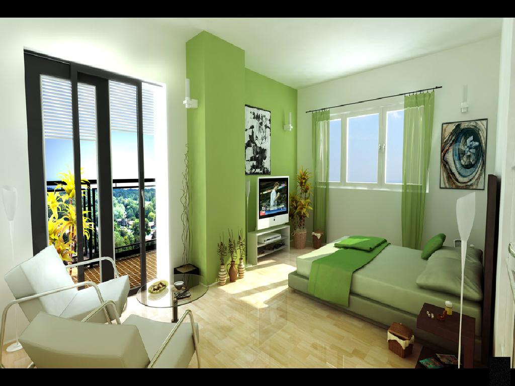 1024x768 Green room desktop PC and Mac wallpaper 1024x768