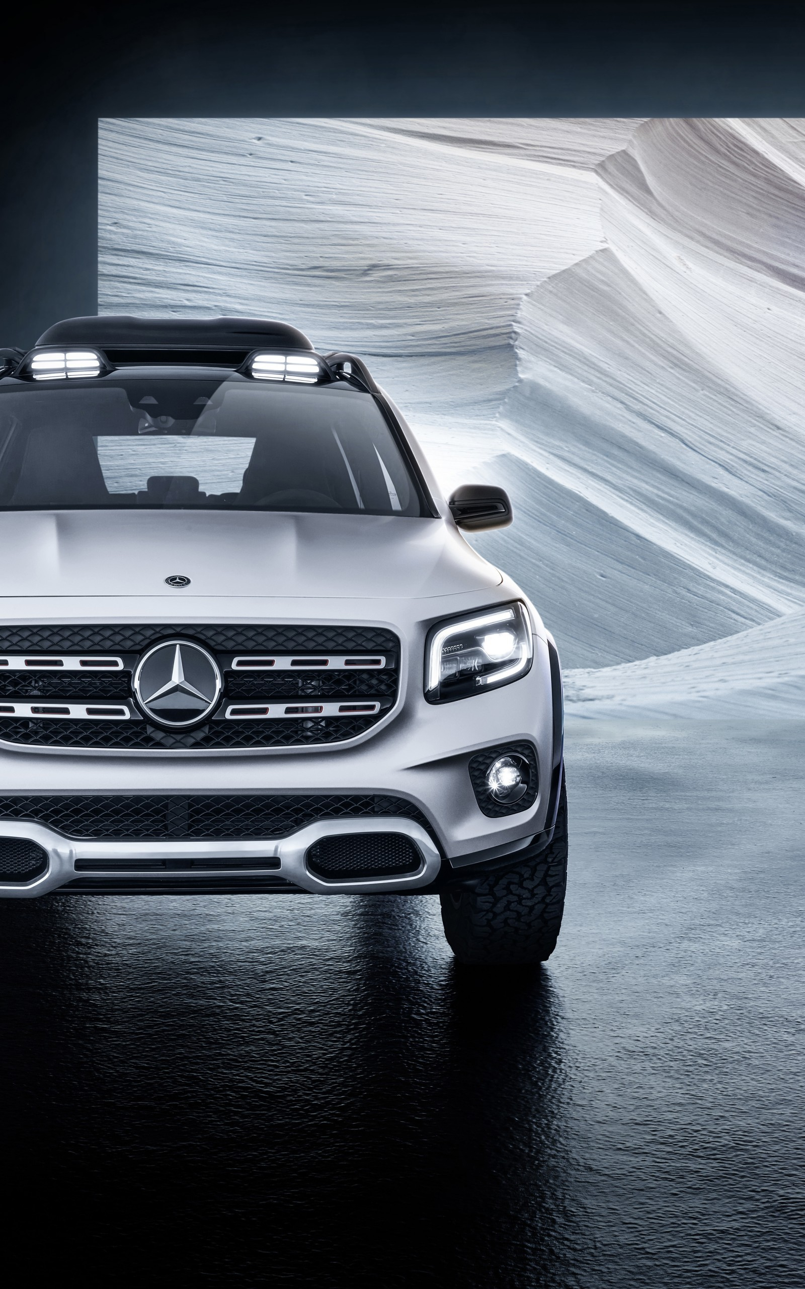 Download 1600x2560 Mercedes benz Glb Class Suv Cars White Front 1600x2560