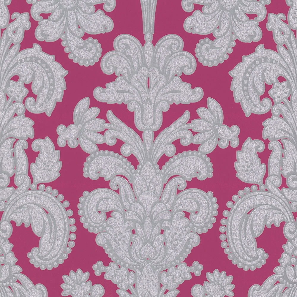 Pink And White Damask Wallpaper   HD Wallpapers Lovely 1000x1000