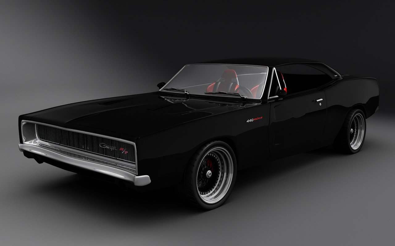 Dodge Charger Art Collection Pencil Drawings Digital Paintings The 1280x800