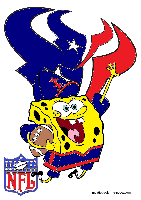 SpongeBob Houston Texans by bubbaking 595x842