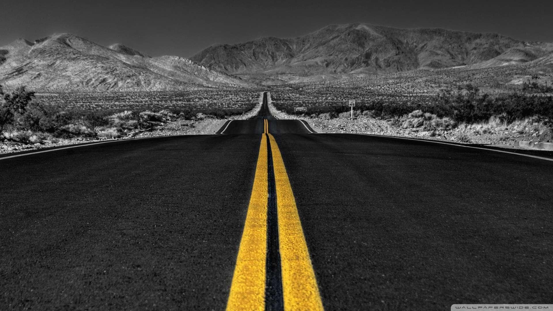 Hd wallpaper 1080p - Wallpaper Long Desert Road Black And White Wallpaper 1080p Hd Upload