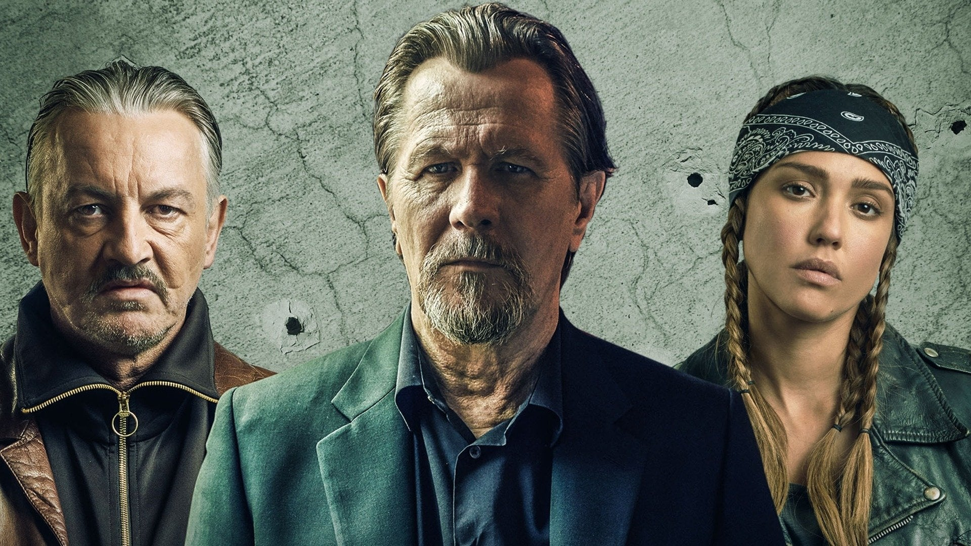 Wallpaper of Killers Anonymous Gary Oldman Jessica Alba 1920x1080