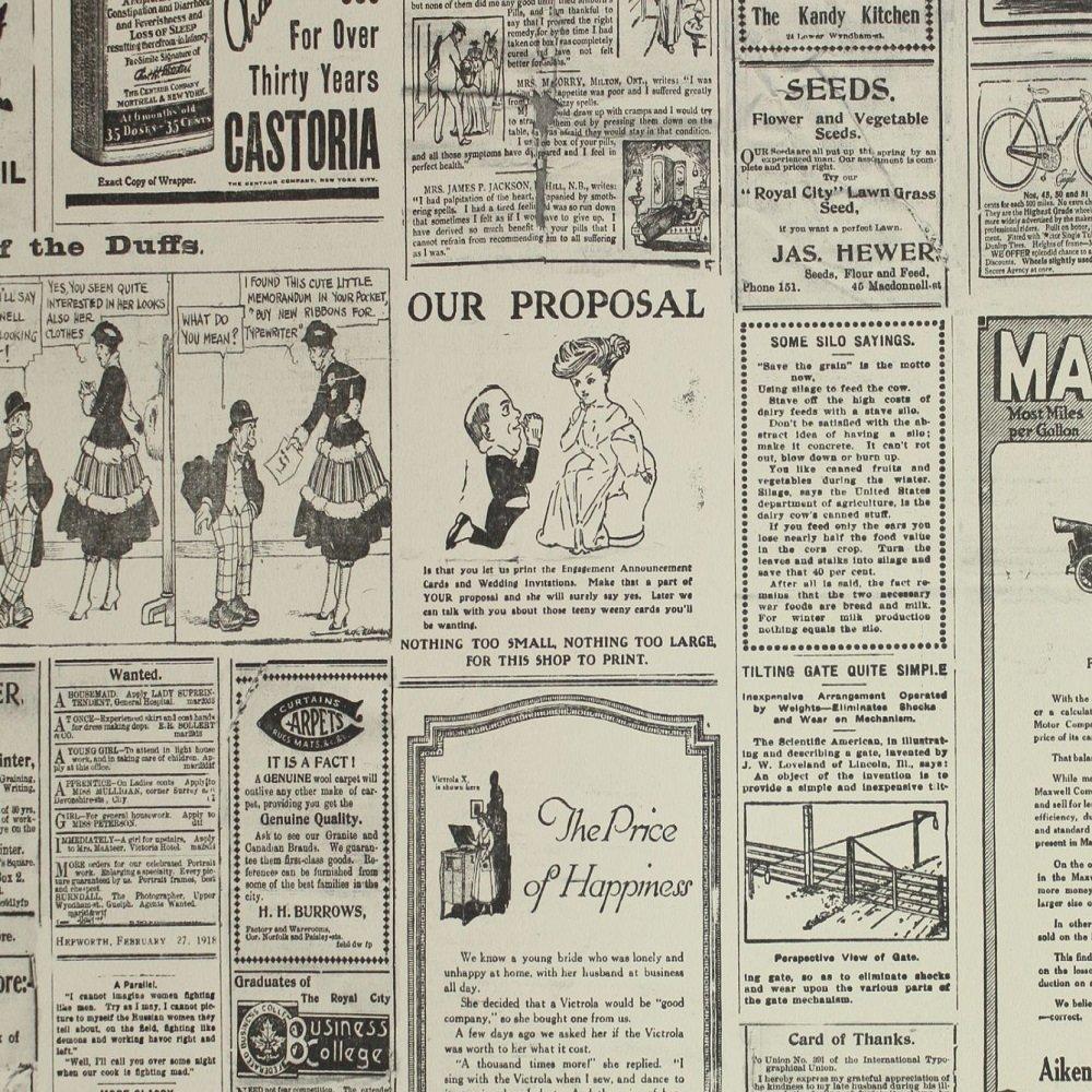 Vintage Newspaper Wallpaper Newspaper wallpaper g56143 1000x1000