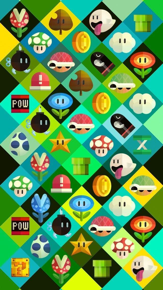 Mobile walls pt 2 Mario bros Mario art Super mario bros 640x1136