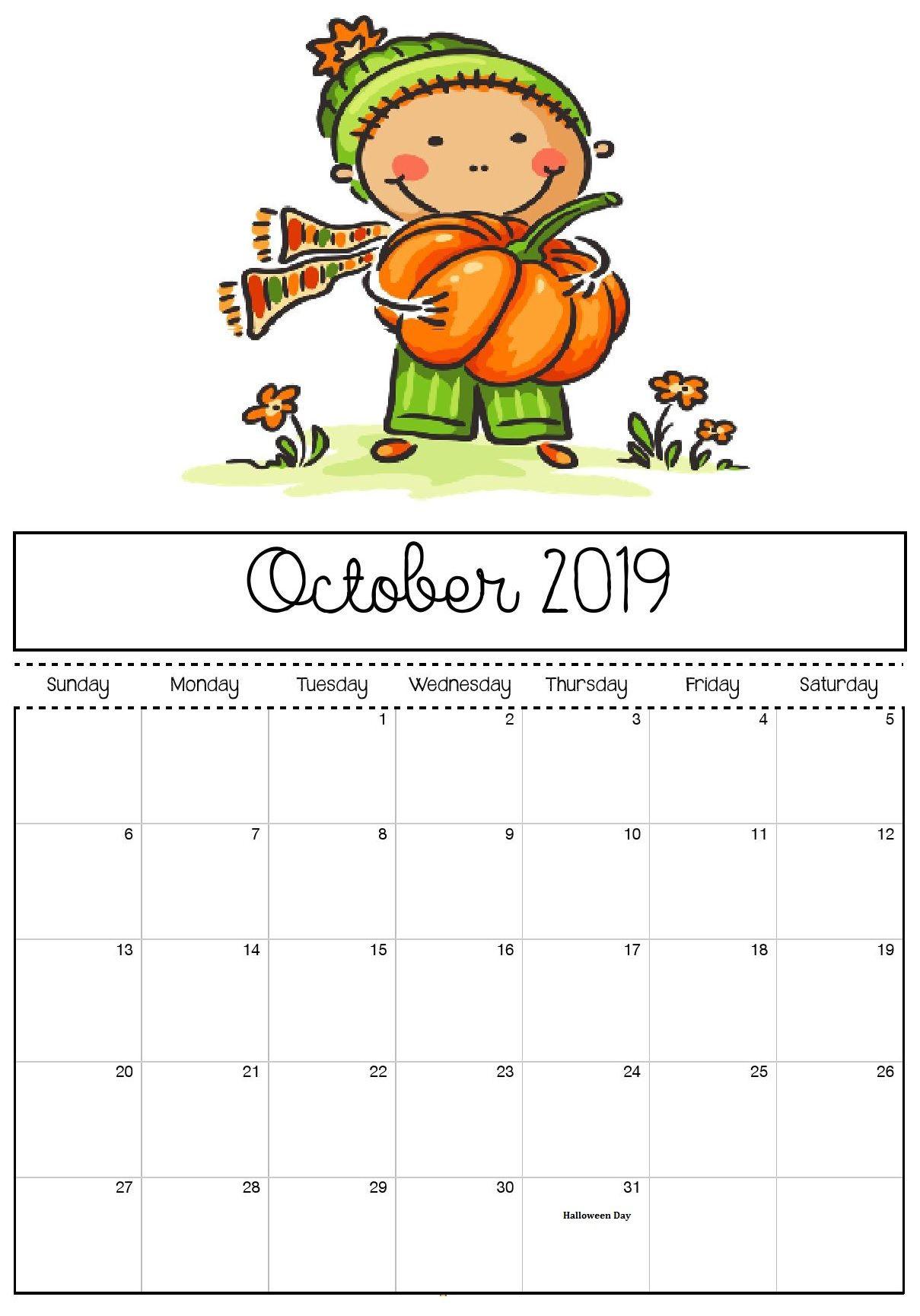 October 2019 Halloween Calendar Calendar 2018 2019 calendar 1209x1729