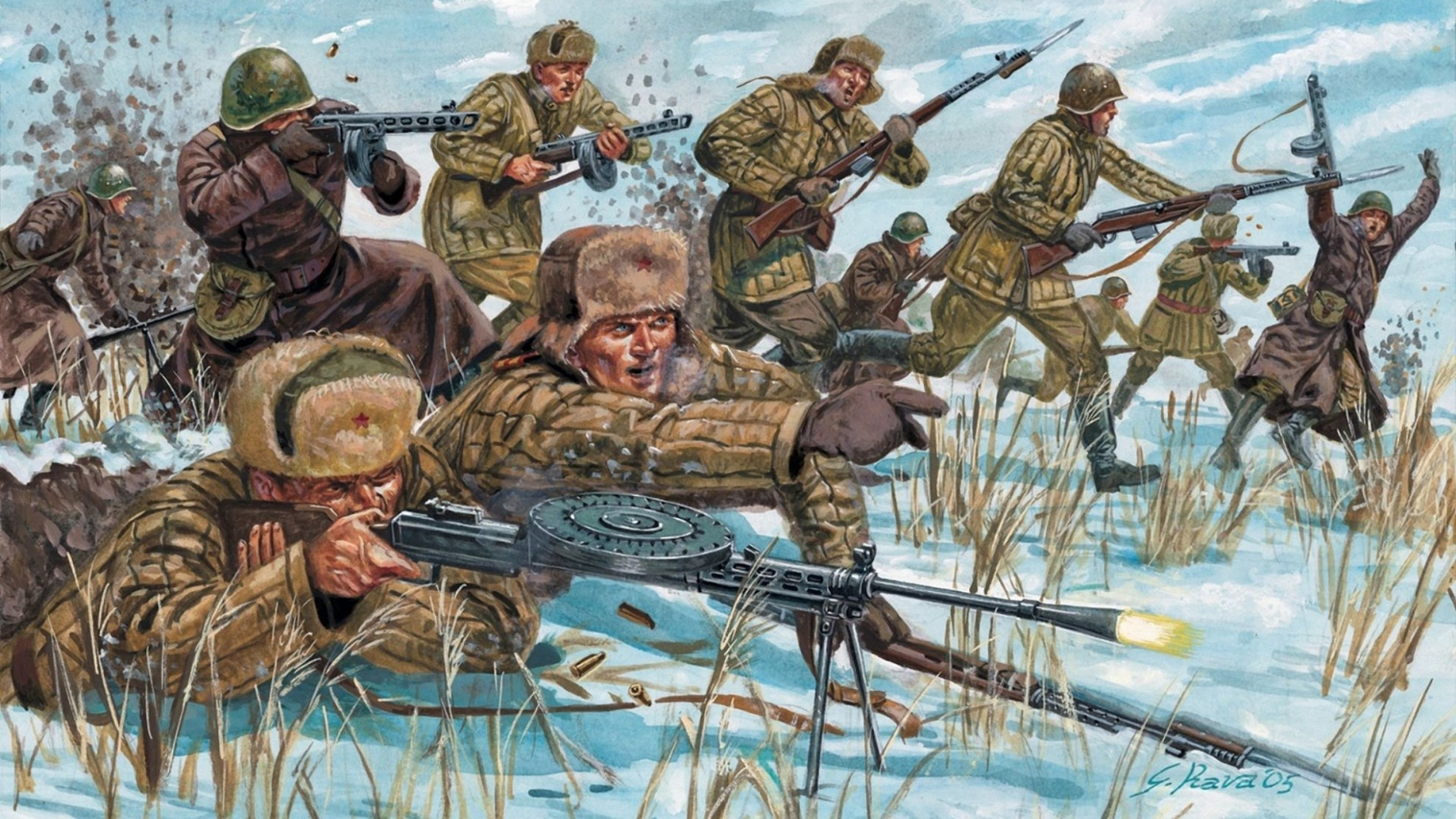 Rifles Of Russian Army Hd Wallpaper: Soviet Wallpaper HD
