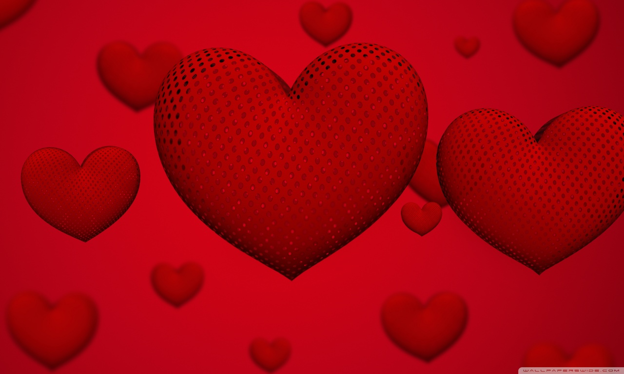 Valentines Day Hearts Ultra HD Desktop Background Wallpaper for 1280x768