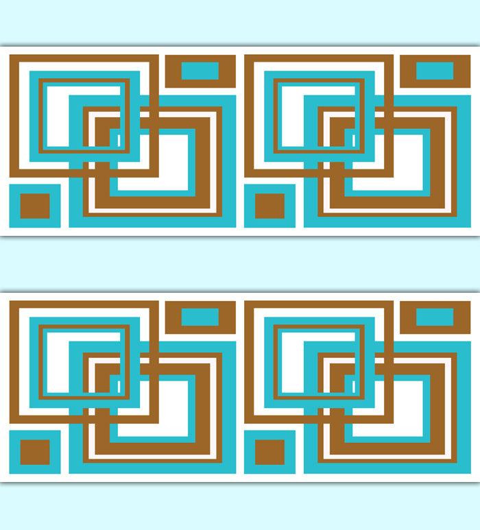 Abstract Wallpaper Border Geometric Modern Art Wall Decals eBay 700x773