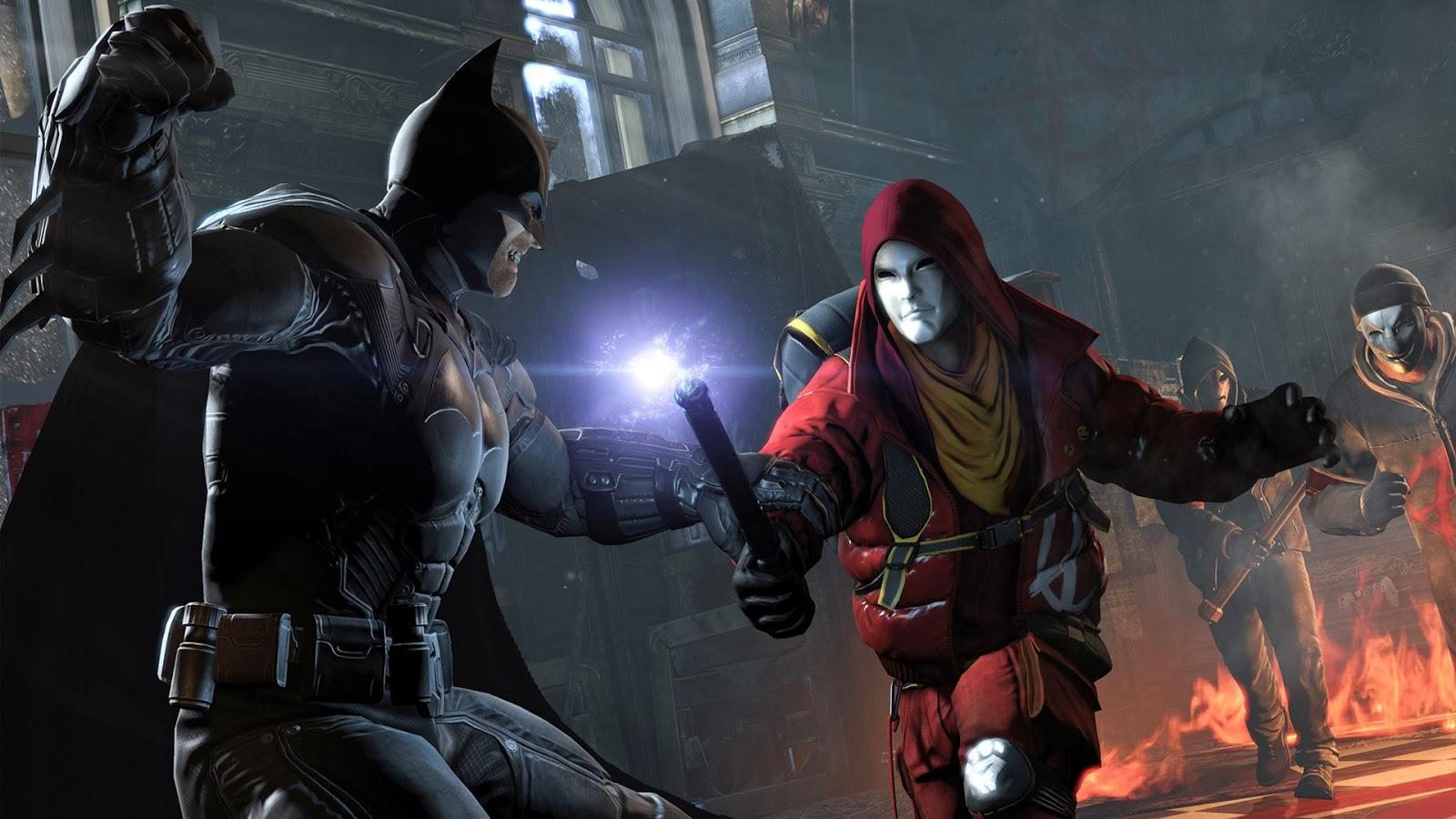 Batman vs Red Hood Batman Arkham Origins Wallpaper 1600x900