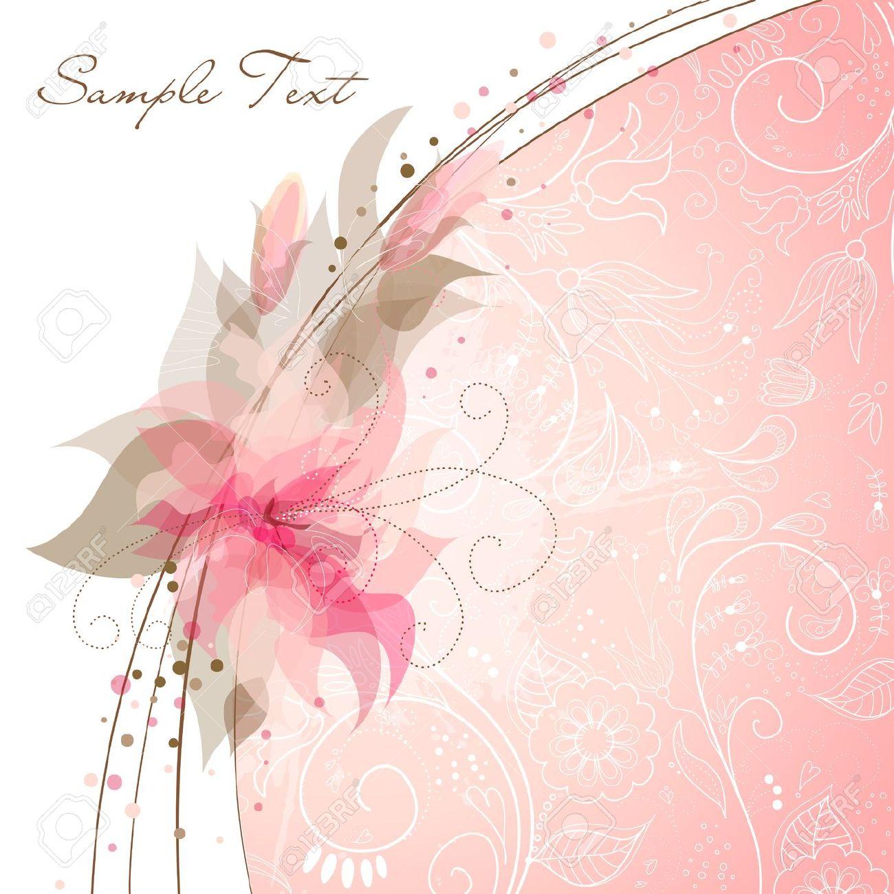 Free Download Wedding Invitation Pink Background Designs