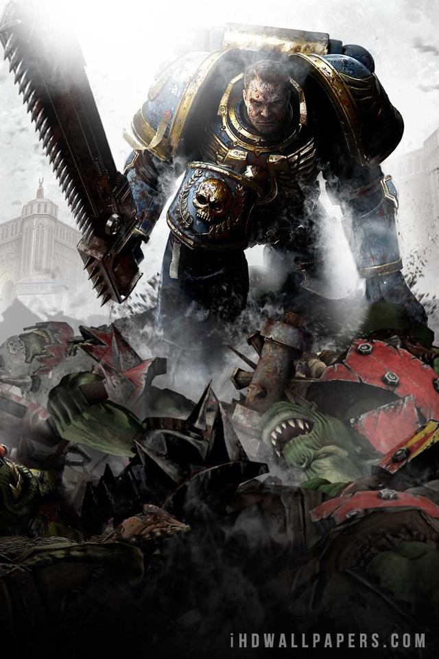 Warhammer 40000 Space Marine HD Wide Wallpaper   640x960 Resolution 640x960