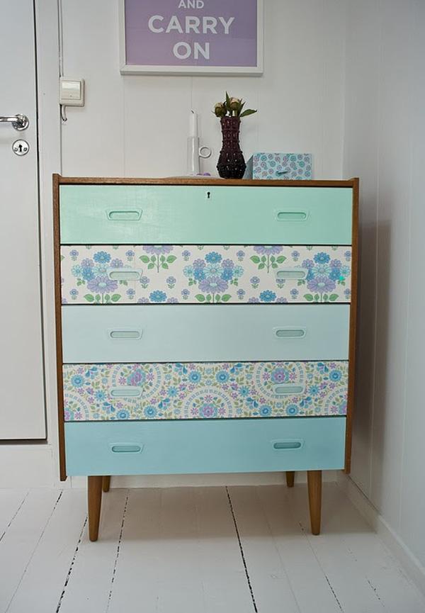 Decorative wallpaper for bedroom diy dresser drawer ideas diy old 600x865