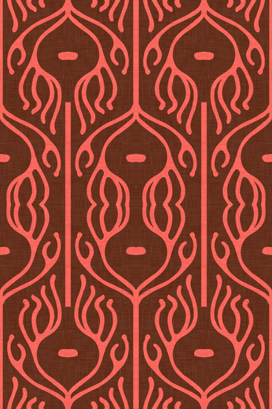 Solid Coral Color Wallpaper Peacock brown and coral 532x800