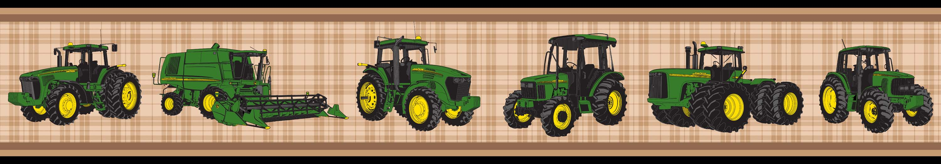Product reviews for John Deere Tractors and Plaid Wall Border 3000x525