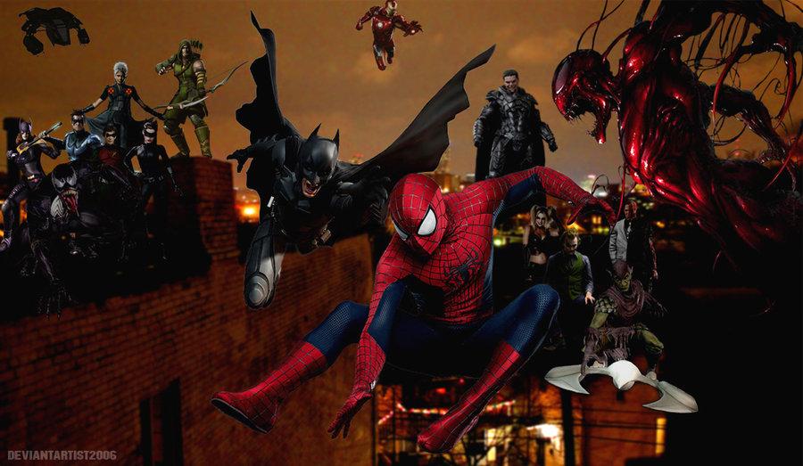 Maximum Carnage   Spider Man Batman Venom Carnage by DeviantArtist2006 900x523
