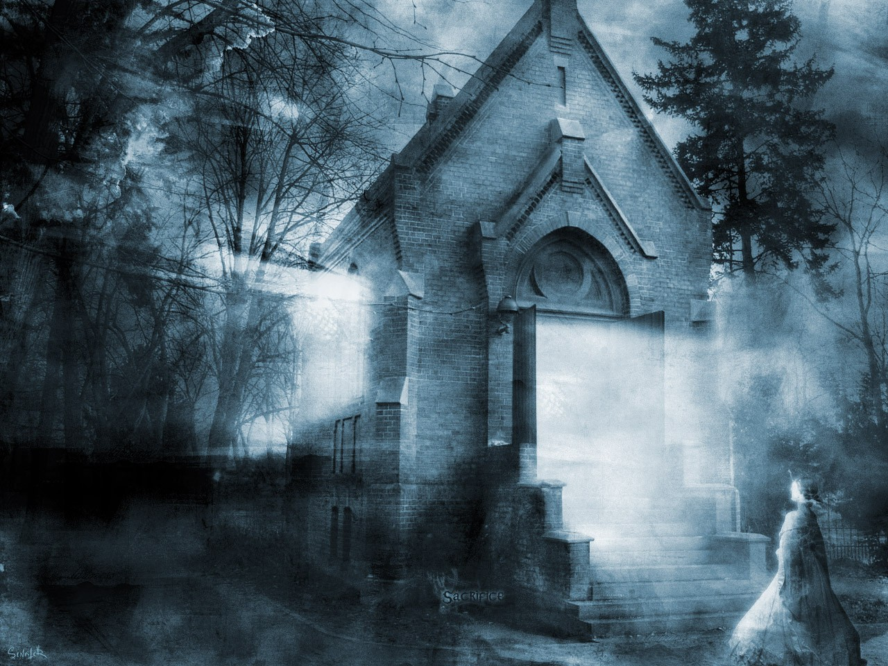 Source URL httpmi9comfree the haunted house wallpaper 86181html 1280x960