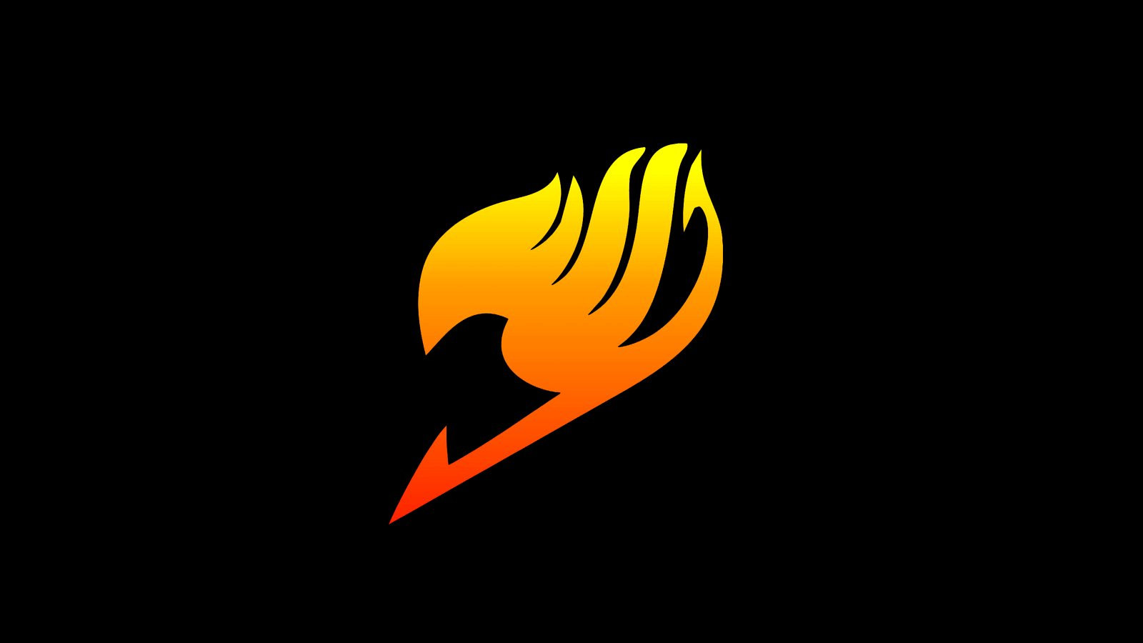 Fairy Tail Yellow Logo Hd Wallpaper Iphone 1600x900