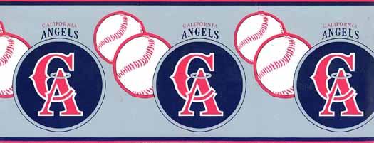 MLB California Angels Wallpaper Border 594305B   Wallpaper Border 525x201