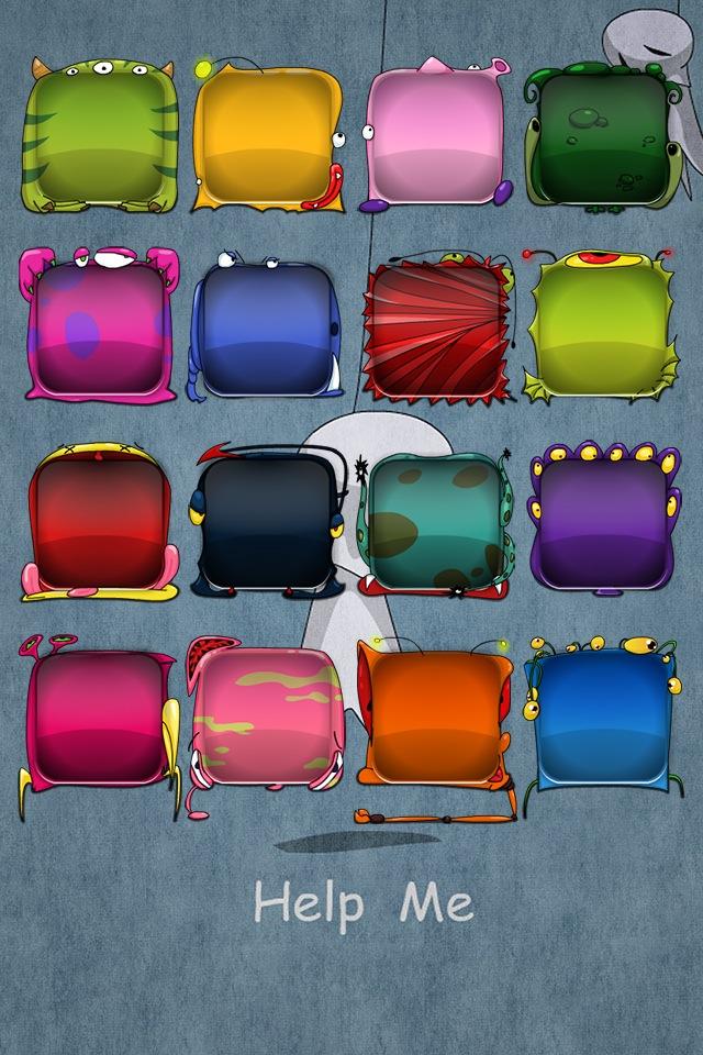 Cartoon Monster Home Screen Wallpaper Maker Pro   iOS 7 Edition ios 640x960