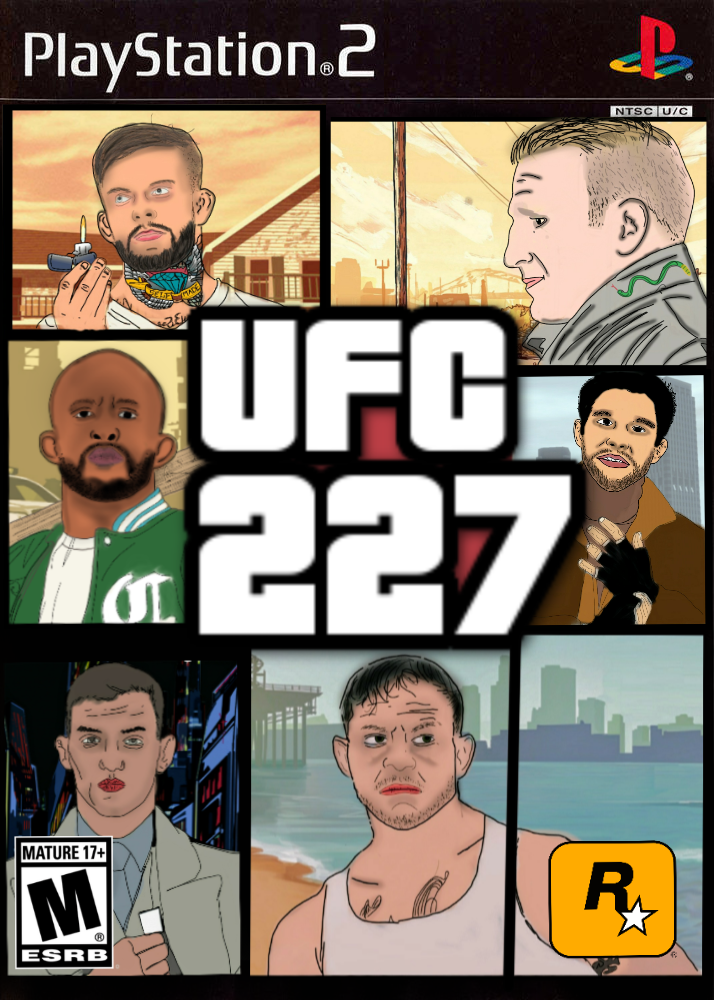My illustrated UFC 227 poster Cant wait for this card MMA News 714x1000