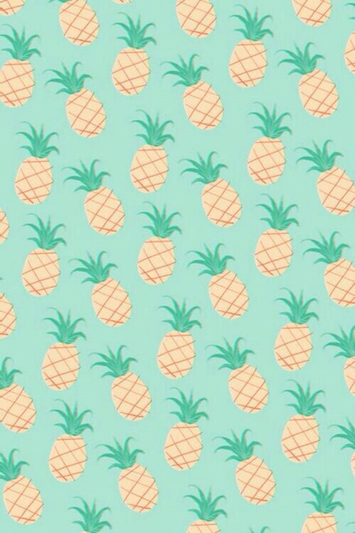 background cute hipster iphone mint pastel pineapple wallpaper 500x750