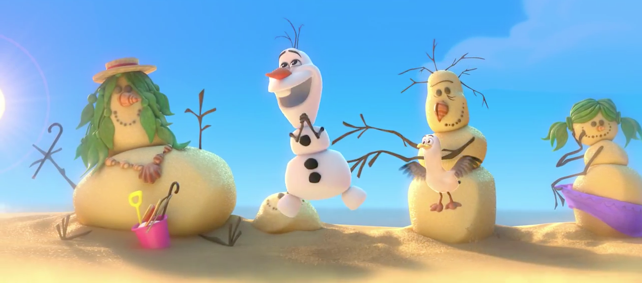 Monde Animation Olaf The Snowman from Frozen in a New Disney 1278x564