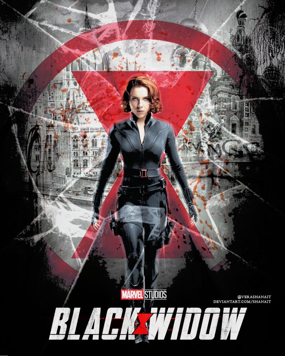 Black Widow movie fan poster by Shanait in 2021 1000x1250