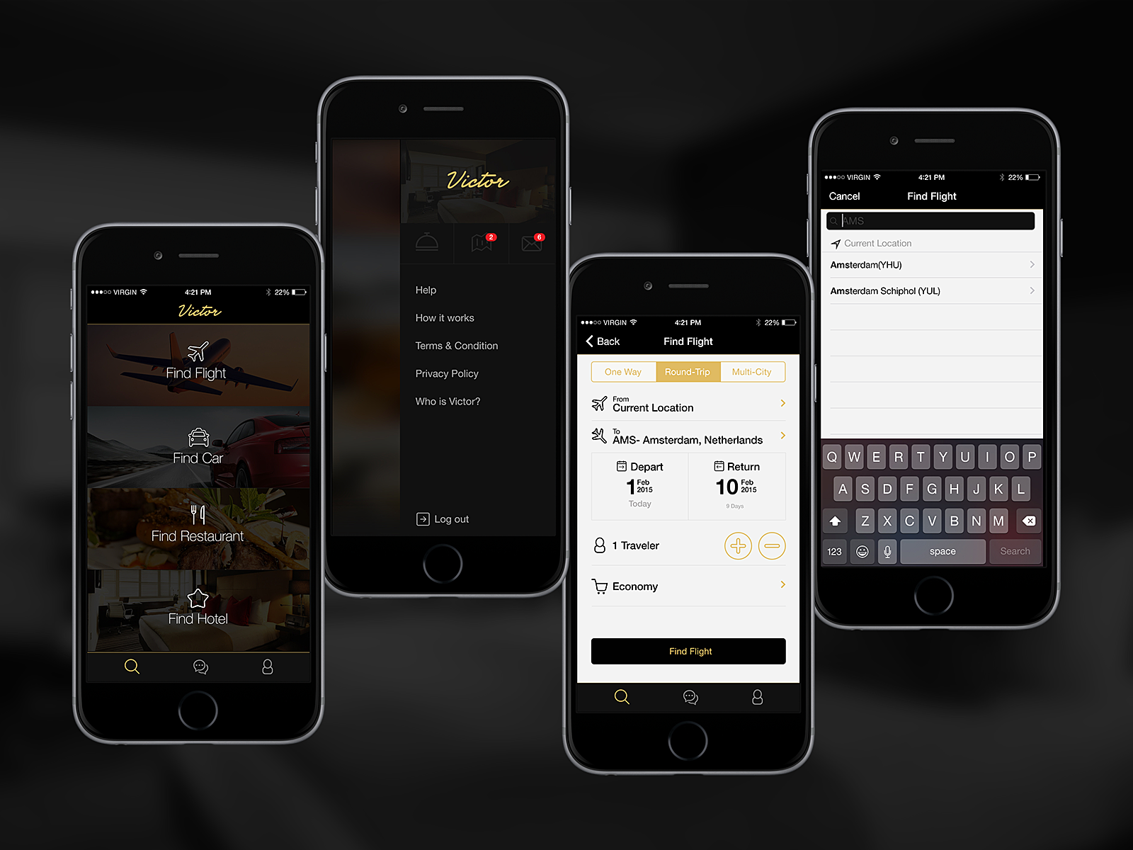 Victor Concierge App by David Bouchard on Dribbble 1600x1200